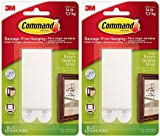 Command 17206-ES Heavy Duty, Holds 16 lbs Picture Hanging Strips, 4 Pairs, White - 2 Pack