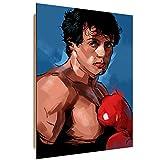 Feeby. Wandbilder - 1 Teilig- 70x100 cm - Bilder Kunstdrucke Deko Panel, Rocky 1 - Nikita Abakumov, Filme, BRAUN