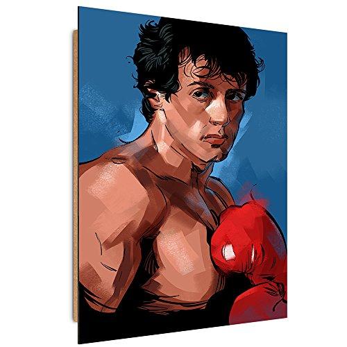 Feeby. Wandbilder - 1 Teilig- 50x70 cm - Bilder Kunstdrucke Deko Panel, Rocky 1 - Nikita Abakumov, Filme, BRAUN