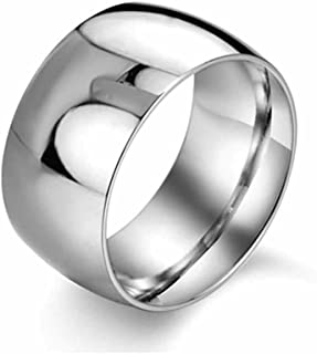 EoCot Stainless Steel Ring Smooth Surface Band Wedding Ring for Men