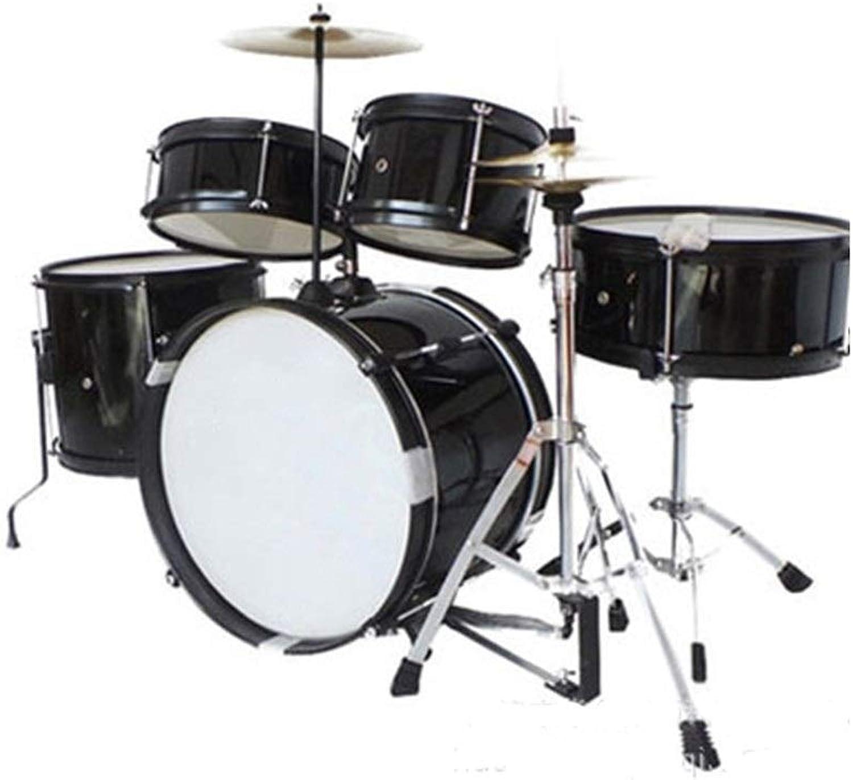 X-Kindertrommel Schlagzeug Für Kinder Anfnger Schlagzeug Percussion Musik Praktiken Jazz Schlagzeug Jugendgeschenke (Farbe   Schwarz)