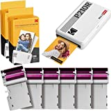 """Kodak Mini 2 Retro 2.1x3.4"""" Portable Instant Photo Printer, Wireless Connection, Compatible: iOS, Android & Bluetooth, Real Photo, 4Pass & Lamination Process, Premium Quality – White – 60 Sheets - Best Reviews Guide"""