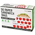 50-Count Lunchskins Recyclable + Sealable Paper Sandwich Bags