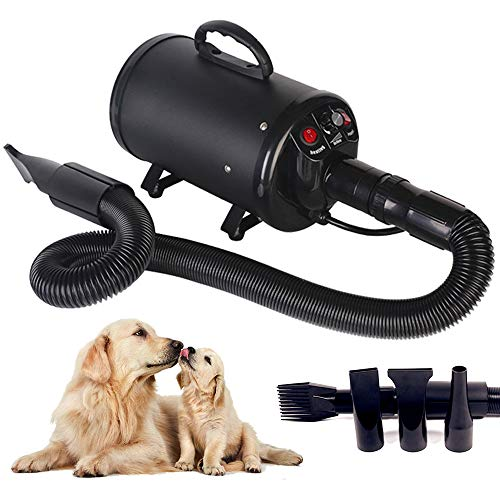 Scurrty Dog Hair Dryer Portable Pet Grooming Blower Dryer Noise Reduction Adjustable Speed Heat...
