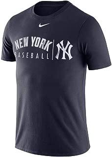 Nike New York Yankees Dri-Fit Cotton Practice T-Shirt Navy