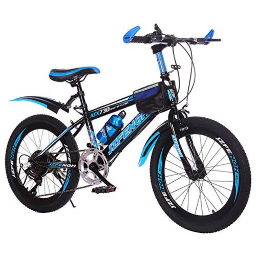 SHUANGA Mountainbike Mehrfarbig Aluminium Racing Outdoor Radfahren (24``, Geschwindigkeit)24 Zoll Mountainbike (Deluxe mit variabler Geschwindigkeit Geschenkverpackung Wasserkocher)