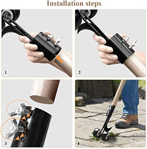 AngelReally Manual Weeds Snatcher, Weed Puller Tool, Adjustable Weeding Cleaning Tool, Garden Weeder and Root Removal Tool Garden Tools for Patio Backyard Sidewalk