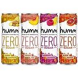Humm Probiotic Kombucha Zero Sugar Variety Pack - No Refrigeration Needed,...