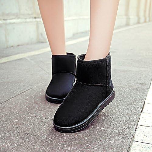XIE zapatos cómodos Planos Sra Duantong de Color Caramelo de Las botas botas de Nieve de Invierno cálido