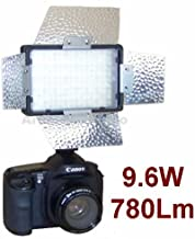 Pro Camera Continuous LED Light with Barndoor for Sony Alpha A230, A200, A330, A350, A380, A230l, A200k, Ka850, A330l, A230y, A350k, A550, A380y, A500, A300k, A900,