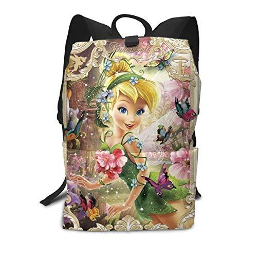 Tinkerbell and Fairy Adult Backpack Lightweight Laptop Shoulder Bag Travel Daypack Bag Unisex Adult Teens Gift