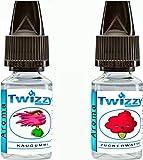 2 x 10ml Twizzy® Sugar Shock Aroma Bundle | Kaugummi, Zuckerwatte | Aroma für Shakes, Backen,...