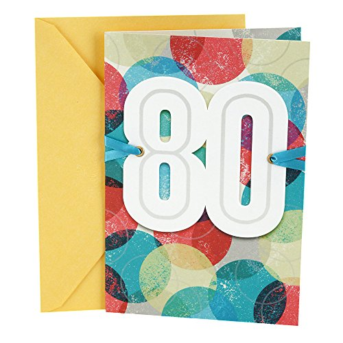 Image of the Hallmark 80th Birthday Card (Bold Circles), Color Orbs - 0499RZB1154