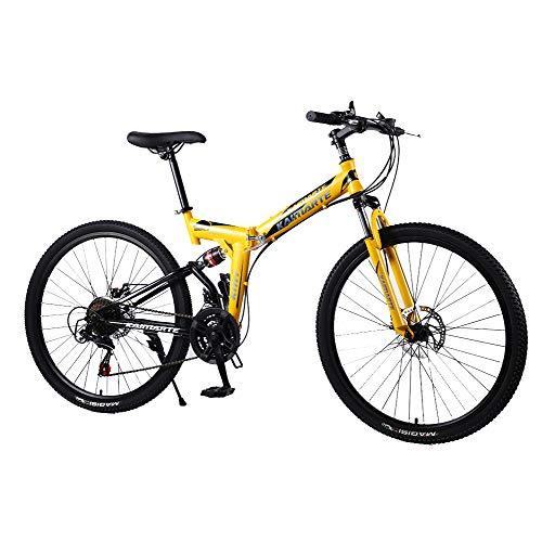 liu 24/26-Zoll-Mountainbike 21/24 / 27speed Faltrad Adult Bike Herren und Damen Mountainbike Speichenrad und Messerrad Fahrrad,24inch,27speed