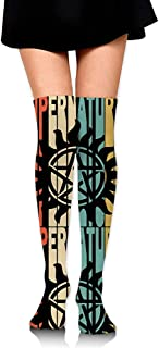 Jesse Tobias, Estilo retro Silueta sobrenatural 1 Botas de mujer Calcetines altos hasta la rodilla Medias altas
