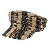 Diaod Berretto Autunno Cappelli Invernali Beret Inghilterra dell'Annata for la Banda delle Donne Plaid Hat Beret Ragazze Piatto Cappello Femminile