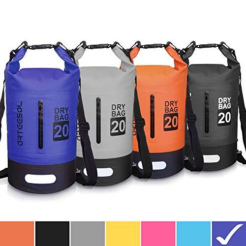 arteesol Dry Bag - 5L 10L 20L 30L Waterproof trockener Beutel/Sack wasserdichte Tasche mit Langem justierbarem Bügel für Kayaking Boots-Ausflug Kanu/Fischen/Rafting/Schwimmen/Snowboarding