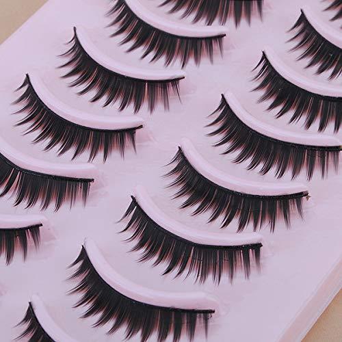 Delighted 10 Pair Natural False Eyelashes Eye Lash Makeup