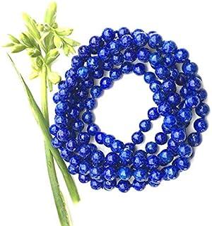 Zoya Gems & Jewellery Lapis Lazuli Hand Knotted Beaded Necklace, Long Lapis Lazuli Necklace, Double Wrap Necklace Or, Blue...