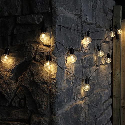 Guirnaldas Luces Exterior Solar Cadena de luz LED Impermeable Solar, para árboles, Sala, Fiestas, Vacaciones, Jardines en Interiores, Patio, Patio, casa, Navidad Luces Exterior