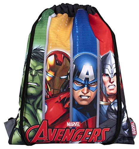 Marvel Comics - Sakky Kids Avengers Drawstring Bag - School Bag for Kids - Official Merchandise Gift for Boys