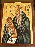 Pintado a mano regalo icono de San STYLIAN Stylianos–Patron de los niños, niños Keeper