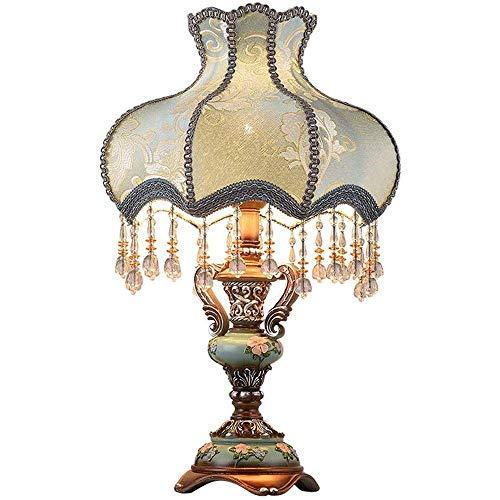 Preisvergleich Produktbild XCY Leselampe Dekorative Beleuchtung Moderne Tischlampen Set Stacked Crystal Ball Silver White Drum Shade Für Wohnzimmer Familien Schlafzimmer Bedside