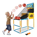 BeebeeRun Basketball Hoop Arcade Game Toy , Basketball Hoop Shooting Training System Set, Indoor Sports Toys with Hoop Ball and Pump Sports Active Gift for Kids Boys and Girls
