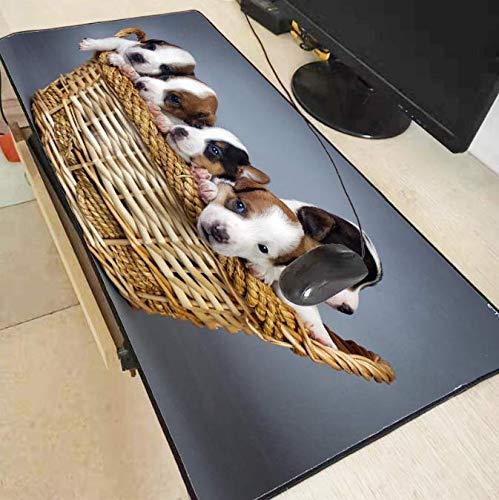 Honden Puppies Mand Hoge Snelheid Nieuwe Mousepad Grote Gaming Muis Pad Anti-Slip Perfect Locking Edge Pc Computer Bureau Mat 30 * 80Cm