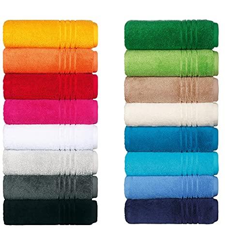 Egeria Handtuch Serie Madison Premiere Qualität in 20 Farben & 5 Größ Größe Waschlappen 30x 30 cm, Farbe (001) White