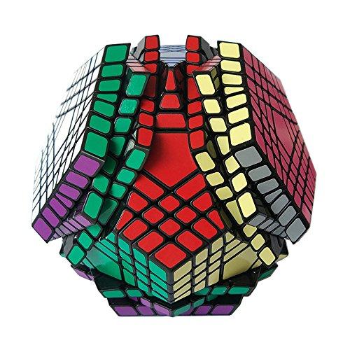 MZStech Megaminx Magic Cube 7x7 Dodekaeder Puzzle Würfel Spielzeug für Kinder (7x7, Schwarz)