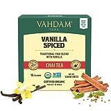 VAHDAM, Masala Chai con especias de vainilla   30 bolsitas de té   ALIVIO Y REFRESCAMIENTO   Té Masala Chai   Bolsa de té con especias Chai   Preparar como té caliente, frío o helado