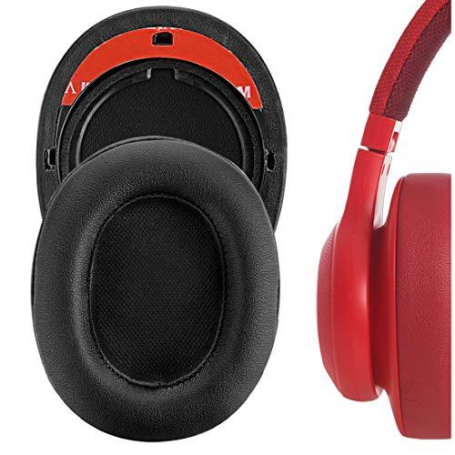 Geekria Potein - Almohadillas de repuesto para auriculares JBL E55BT JBL E 55 BT (negro)