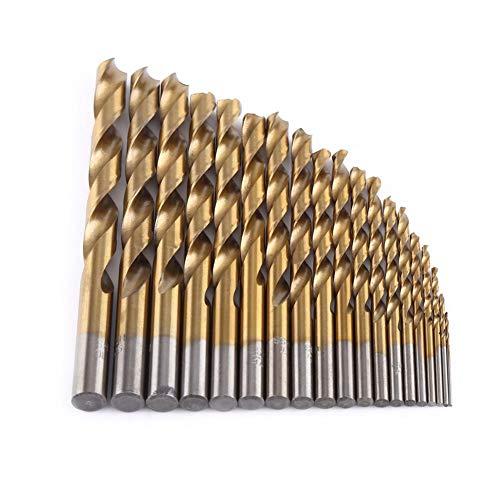Brocas de helicoidales recubiertas de titanio de acero de alta velocidad de 1-10 mm establecidas en…