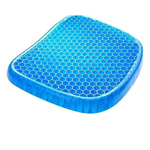 Gel Seat Cushion Double Layer Non-Slip Breathable Honeycomb Egg Seat Cushion Ice Pad for Car Office Chair Wheelchair Pain Relief Soft cushionSoft Cushion (Specification : 38x33x4cm)