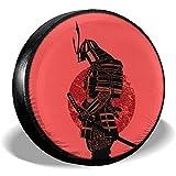Hiram Cotton Spare Tire Cover Coperture per Pneumatici di Ricambio per Pizza Coperture per Ruote in Sporcizia Potabile A Prova di Intemperie per Camion della Roulotte Jeep Camper 14-17 Pollici