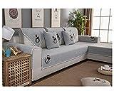 ZIXING Fashion Funda de sofá Universal Patrón de Ciervo Moderno Protector de Muebles para Sala de Estar Lavable Cubierta del sofá 2 70 * 70cm(Respaldo Toalla)