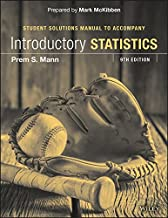 Introductory Statistics Student Solutions Manual