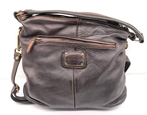 Bayside BS294 Mini-Tasche für Damen, quadratisch, Kalbsleder