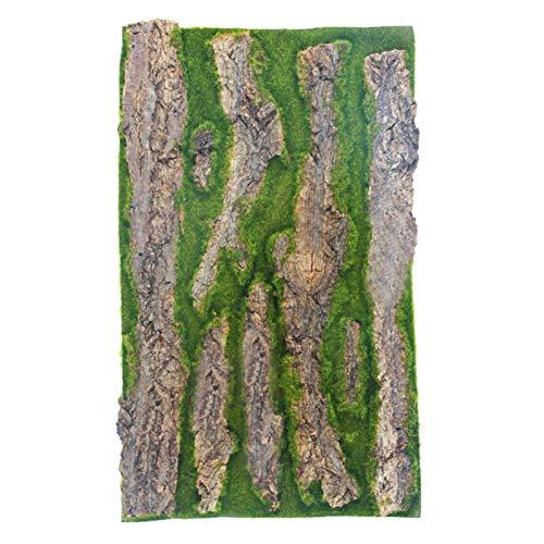 Napacoh Alfombra De Musgo De Césped Falso De Corteza Artificial, Simulación De Corteza De árbol De Planta Artificial Balcón Muebles De Jardín Adorno De Oficina Los 30 * 50cm
