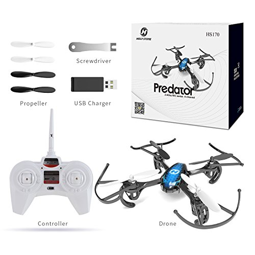 Holy Stone HS170 Predator Mini RC Helicopter Drone 2.4Ghz 6-Axis Gyro...