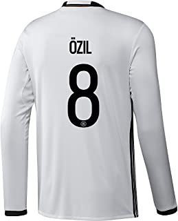 adidas Ozil #8 Germany Home Soccer Jersey Euro 2016 Long Sleeve