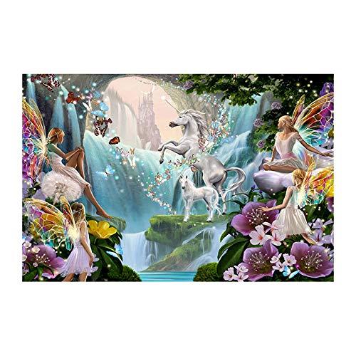 5D Diy Diamante Pintura Caballo Blanco En Anime Bordado Punto De Cruz Mosaico Oración Del Hogar Wz