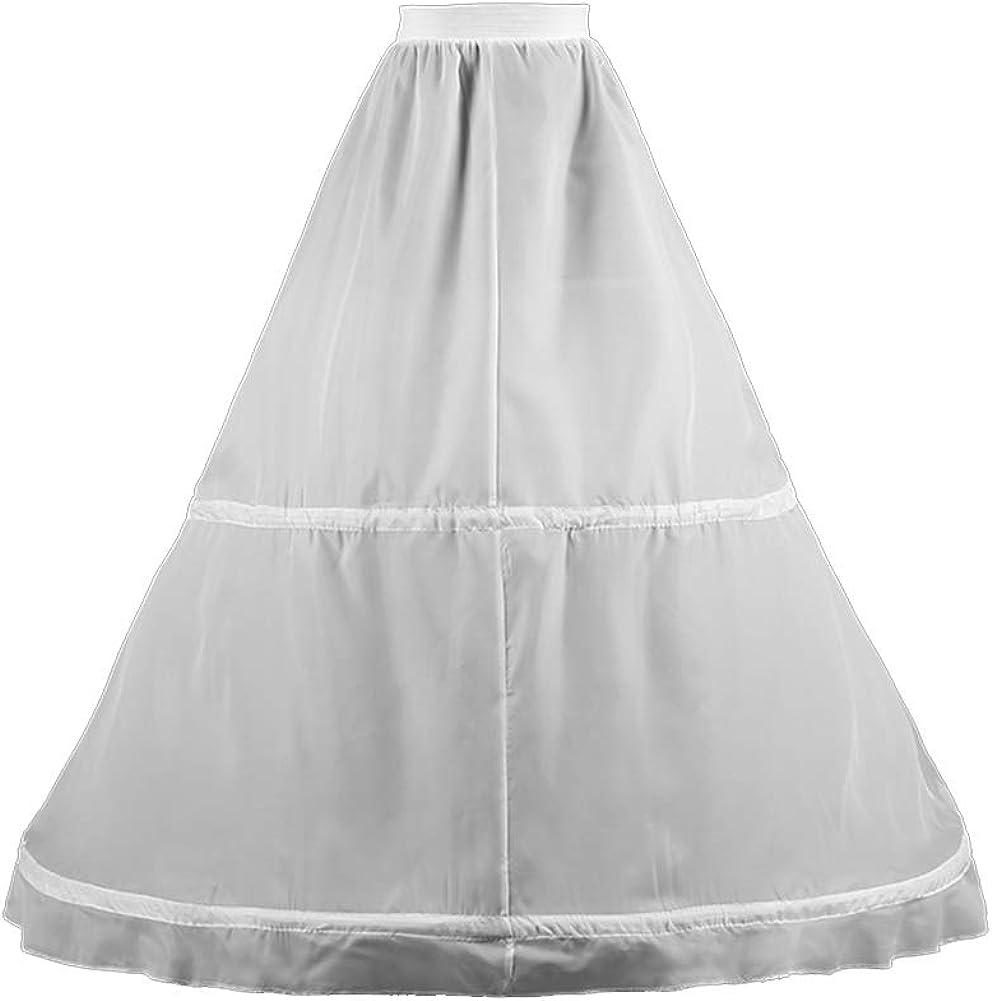 WOWBRIDAL 2 Hoops Sale item Floor-Length Under Crinoline Wedding Petticoat Fresno Mall