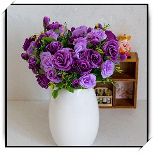 Anjz@künstliche Blumen-Bouquet Dekoration, ideal für die Hochzeit, Braut, Party, Zuhause, Büro Dekor DIY Beschneidung lange 28cm
