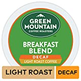 Green Mountain Coffee Roasters Breakfast Blend Decaf, Single-Serve Keurig K-Cup Pods, Light Roast Coffee, 72 Count