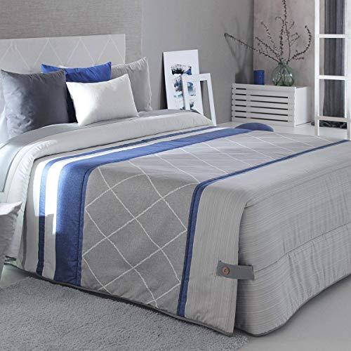 Reig Marti - Edredón Conforter Carson 02 - Cama 135 Cm - Color Gris C08
