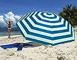 Guilty Gadgets Sombrilla inclinable para jardín, playa, patio, 1,7 m, con...