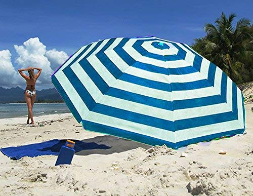 Guilty Gadgets Sonnenschirm, 1,7 m, gestreift, Blau