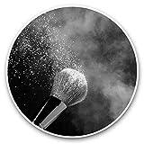 Impresionantes pegatinas de vinilo (juego de 2) 20 cm (bw) – Brocha de maquillaje morada calcomanías divertidas para portátiles, tabletas, equipaje, libros de recortes, neveras, regalo fresco #39385